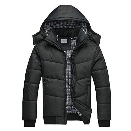Espesar Promoción De Gran Invierno Cálido Los Chaqueta Negra Capucha Internet Abrigo Con Abajo Hombres Negro FSw8Z