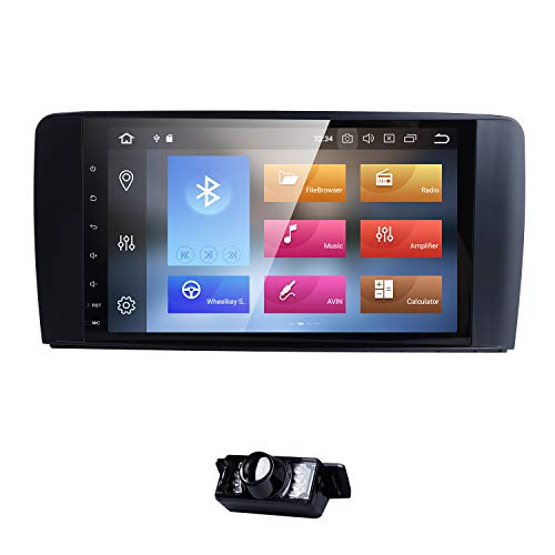hizpo Android 8.0 32G 8 Core Car Stereo 9 Inch with Video Receiver Radio GPS WiFi for Mercedes-Benz ML-Class W164 2005-2012/ML300/320/350/400/450 ML63 AMG GL Class X164 GL320/350/420/450/500