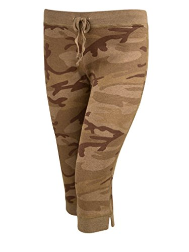 Kavio! Junior Heather Camouflage Capri Pant Silicon Wash Camo Desert Sand S