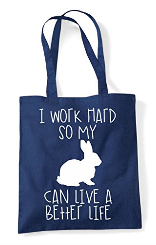 Better Navy Tote Can Shopper Hard Animal Themed So Cute Work Rabbit Have Funny Bag Life I My A B8q4wxUUg