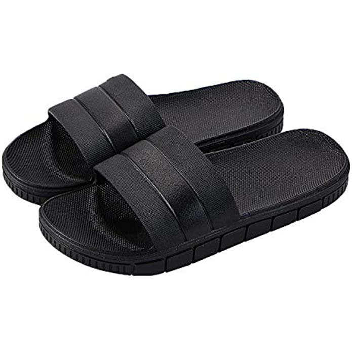 clootess Shower Shoes Bath Slipper Slides Sandal for Women and Mens Bathroom Pool Non-Slip Quick Drying