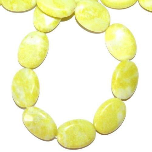NG2171 Peridot Jasper 24mm Flat Puffed Oval Gemstone Beads 15'' Crafting Key Chain Bracelet Necklace Jewelry Accessories Pendants -