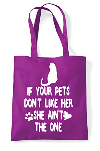Shopper Her If One Your Animal Pets Like She Bag Funny Don't Magenta The Tote Cat Ain't Lover Person wIaBfIxFq