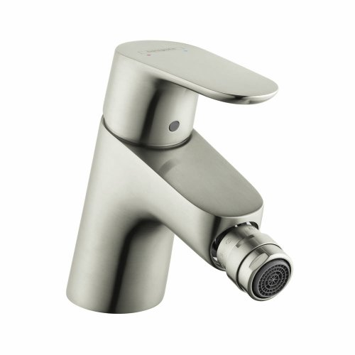 Hansgrohe 31920821 Focus E Single Hole Bidet Faucet, Brushed (Single Hole Bidet Faucet)