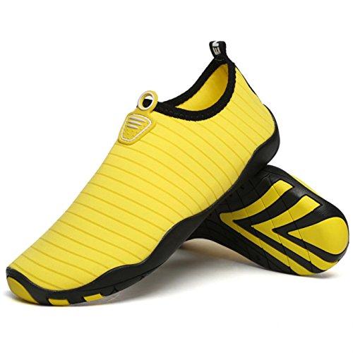 Shoes Beach Sneaker Swimming Men's Barefoot Aqua Summer Pool Women's Yellow Skin For Shoes ZxwOO0PYq