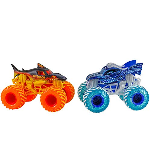 (Monster Jam 1:64 Megalodon and Dragon Fire & Ice)