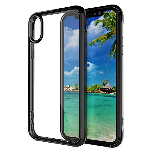 -  Ourhomer  Clearance Sale For iphoneXS Max 6.5 inch Protective Clear Transparent Silicone Hard Case Cover Ransparent Glass Eagle Eye Phone Case (Black)