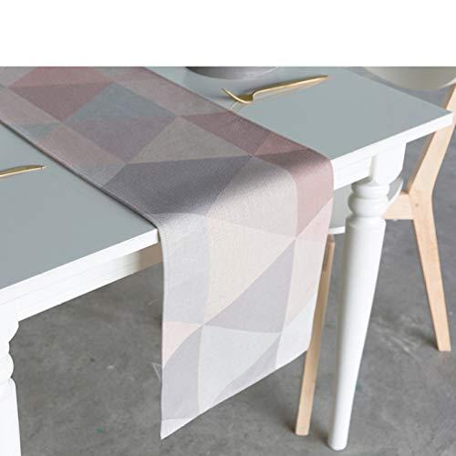 Nordic Simplicity Cotton Table Runner for Christmas Wedding Party Decor Cartoon Plain Lattice Style -