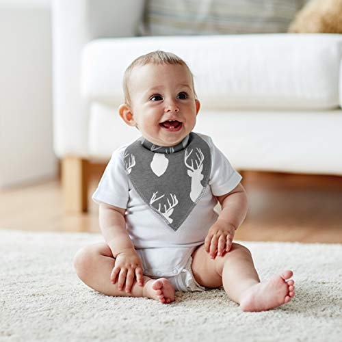 Baby Bibs MiiYoung Baby Bandana Drool Bibs for Drooling and Teething, 100% Organic Cotton and Super Absorbent Bibs for Baby Boys, Baby Shower Gift Set