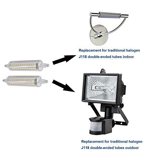 10W DIMMBARE R7S LED Scheinwerfer Birnen 118mm Warm Weiß