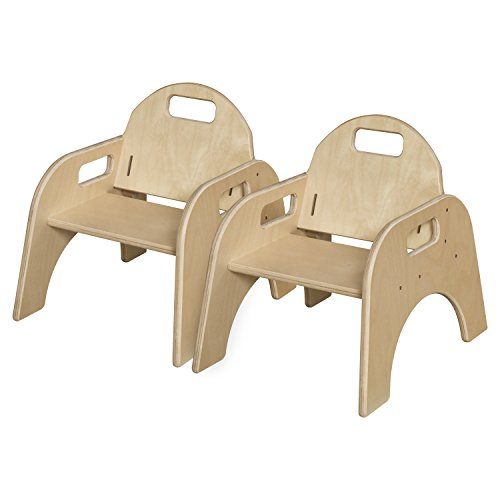 Wood Designs Stackable Woodie Toddler Chair, 7 High Seat, Set of 2