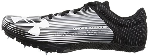 Under Armour Men's Kick Sprint Spike Running Shoe White (100)/Black 12 by Under Armour (Image #5)
