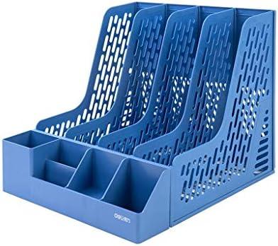 IAIZI Akten-Halter Bürobedarf Buchständer Einfache Desktop-Ordner Ordner Storage Box Storage (Farbe: blau) ZGHE (Color : Blue)