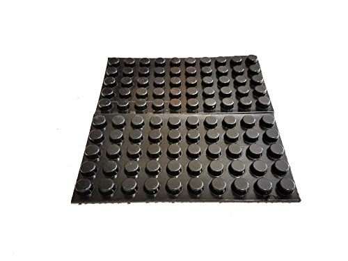 (100 Black Self Adhesive Round Rubber Bumper Feet 12.7mm (1/2
