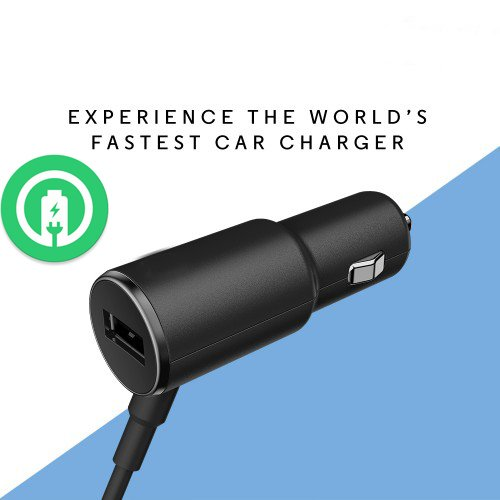 Turbo Fast Powered 25W Car Charger Works for Lenovo P2 with Extra USB Port and Long