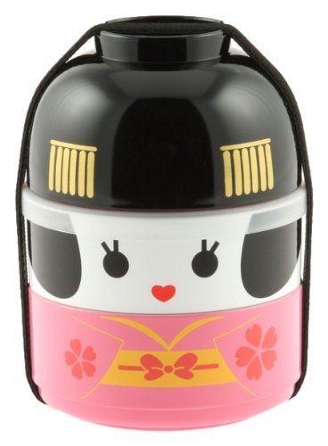 Kotobuki Geisha Doll Stackable Bento Set