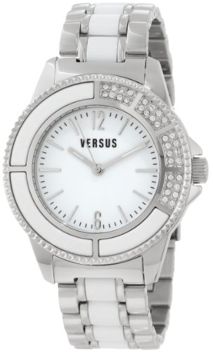 Versus by Versace Women's 3C64000000 Tokyo Stainless Steel White Dial Crystal Bracelet Watch