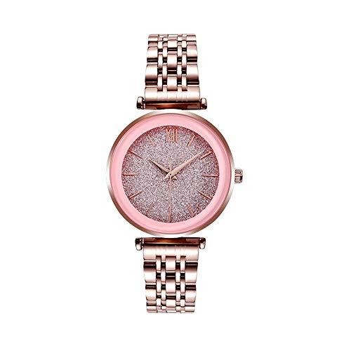 BEWITCHYU Practical Wristwatches Women 's Simple Ultra-Thin 7Mm Quartz Watch 33Mm Solid Steel Belt Casual Fashion Decorative Watch Bracelet