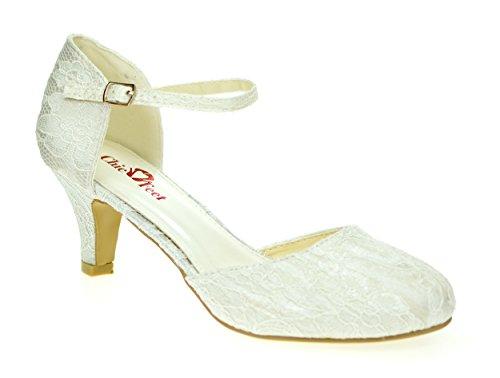 Chic Feet ,  Damen Durchgängies Plateau Sandalen mit Keilabsatz