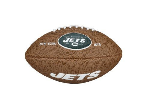 New York Jets Memorabilia - Wilson WTF1533IDNJ NFL Team Logo Mini Size Football - New York Jets