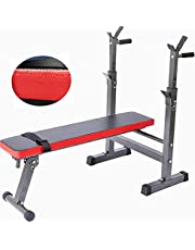 AOAS YBS2-7 Weight Training Bench, Fitness Benche with Adjustable Lifting Barbell Rack, Multifunctional Weightlifting Bed Home Training Gym Bench Press Gym Equipment