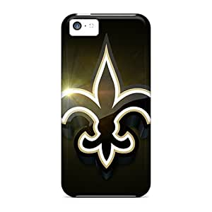 Bumper Hard Phone Cover For Iphone 5c With Customized Realistic New Orleans Saints Skin RudyPugh