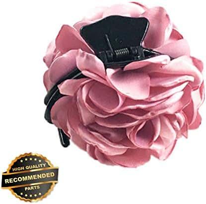 Gatton Premium New Women Chiffon Rose Flower Hair Clip Pin Barrette Hair Claw Accessories Decor   Style HRCL-M182012380