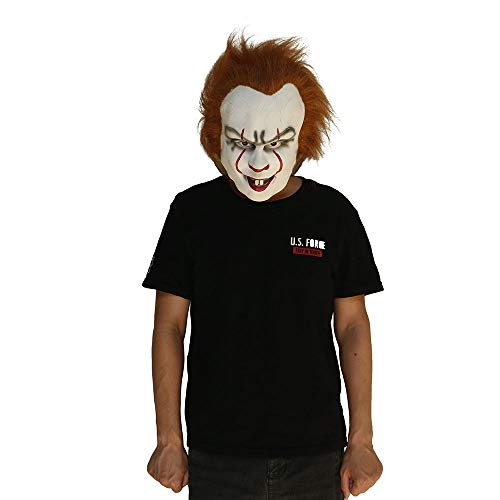 HitHopKing Michael Myers Mask Cosplay Halloween Mask Halloween Scary Mask Spoof Mask Tricky Game Toy - Rubber Latex Full Head Mask Grey ()