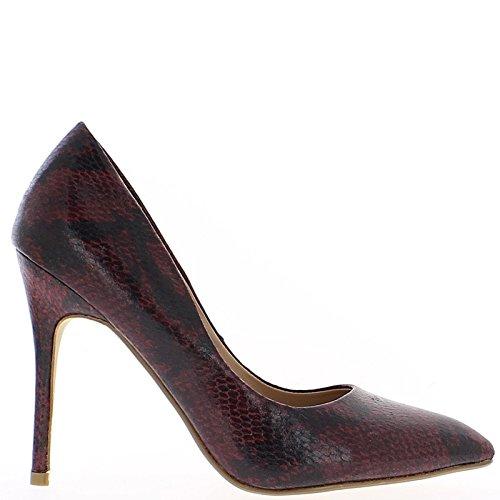 Zapatos negros y rojos con aguja afilada tacón 11cm
