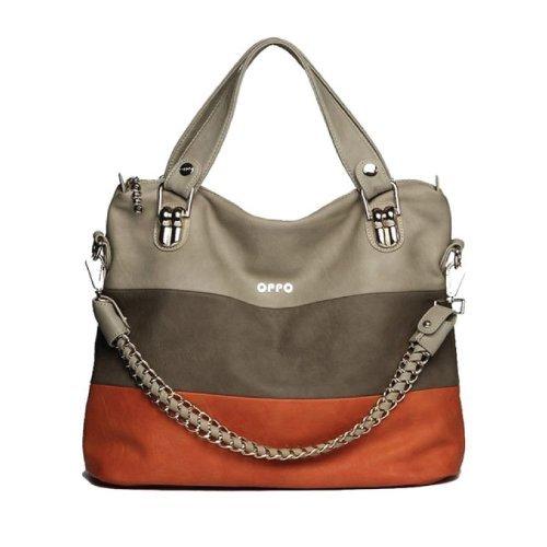 Women Fashion Shoulder Bag Oppo Fresh Design Elegant Soft Pu Leather Bag (Orange)