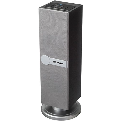 Sylvania SP269-Silver Bluetooth Floor Standing Tower Speaker (Certified Refurbished) by Sylvania