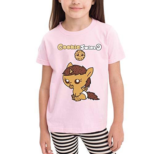 MONIKAL Children Girls Boys T-Shirt Cookie Swirl 100% Cotton Short Sleeves 2-6 Years Tri-Colour Optional 3T ()