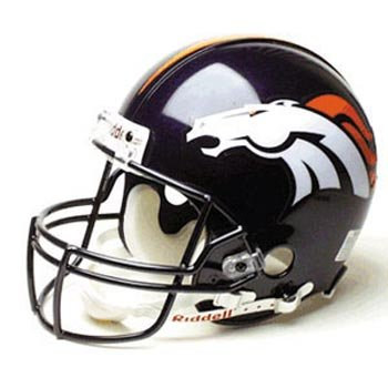 Denver Broncos Full Size Authentic ProLine NFL Helmet by Riddell by Riddell