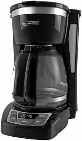 BLACK+DECKER 12-Cup Programmable Coffeemaker, Black, CM1160B