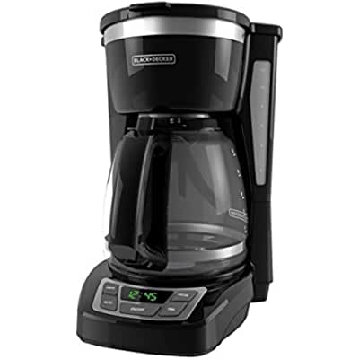 BLACK+DECKER CM1160B 12 Cup Programmable Coffee Maker, Digital Control Programmable Coffee Maker, Black/Stainless...