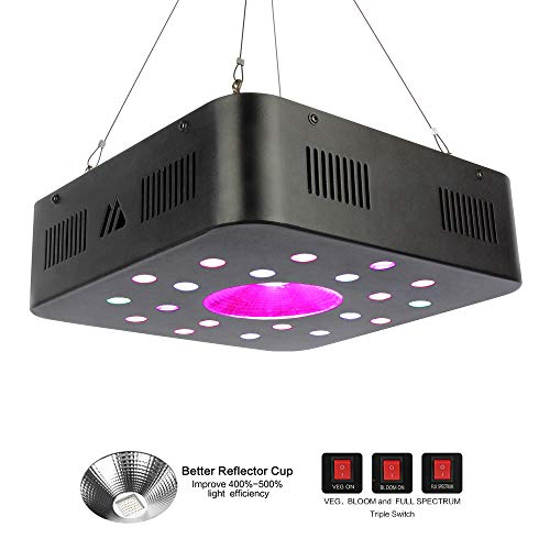 600w Led Grow Light, Motansun Plant Growing Lights Full Spectrum with Three Switch for Indoor Plants, Hydroponic&Greenhouse, Veg and Flower Seed Starting/New Upgrade