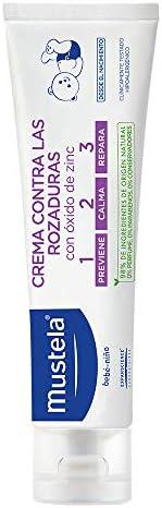Mustela Crema Contra Rozaduras 1-2-3 con Oxido de Zinc para Todo Tipo de Piel, 108 gr