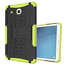 "MOONCASE Galaxy Tab E 9.6-inch Case Built-in Kickstand Hybrid Armor Case Detachable 2 in 1 Shockproof Tough Rugged Dual-Layer Case Cover for Samsung Galaxy Tab E 9.6"" Green"