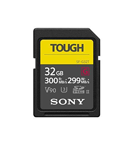 Sony Tough-G Series SDHC UHS-II Card 32GB, V90, CL10, U3, Max R300MB/S, W299MB/S (SF-G32T/T1)