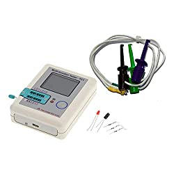 1.8 inch Pocketable Colorful Display Multi-function Tester Detector,LCR-TC1 Transistor Tester for Diode Triode Capacitor Resistor NPN PNP
