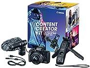 Canon EOS M50 Mark II Content Creator Kit, Mirrorless 4K Vlogging Camera Kit Includes EF-M 15-45mm Lens, Tripo