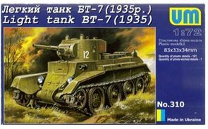 Plastic model BT-7 WWII Soviet light tank (1935) UMT310