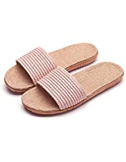 Summer Personality Fashion Korean Solid Color Linen Slippers Non-Slip Breathable Fashion Pu Leather Slippers - Light Pink 35-36