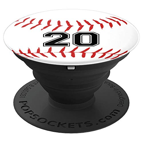 Baseball Player Jersey Number 20 - PopSockets Grip and Stand for Phones and Tablets