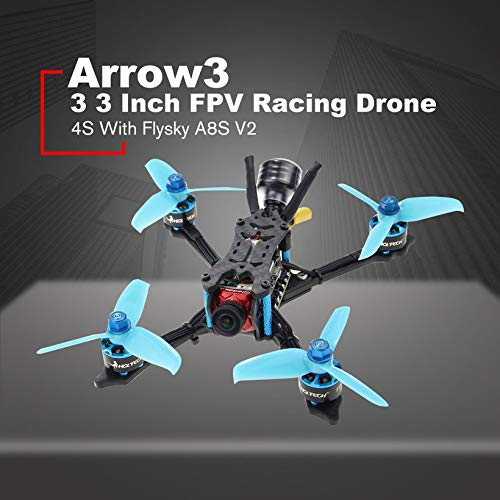 Wikiwand HGLRC Arrow 3 FPV Racing Drone 4S BNF Quadcopters with Flysky A8S V2 Receiver by Wikiwand (Image #5)