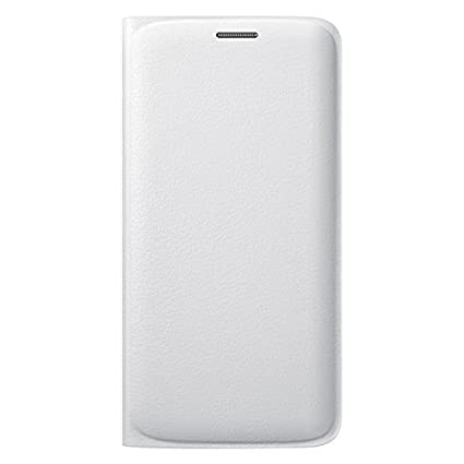 online store a899b 9179c Samsung Flip Wallet PU Cover for Galaxy S6 Edge (White)