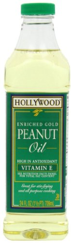 - Hollywood Peanut Oil, 24 Ounce Bottles (Pack of 12)
