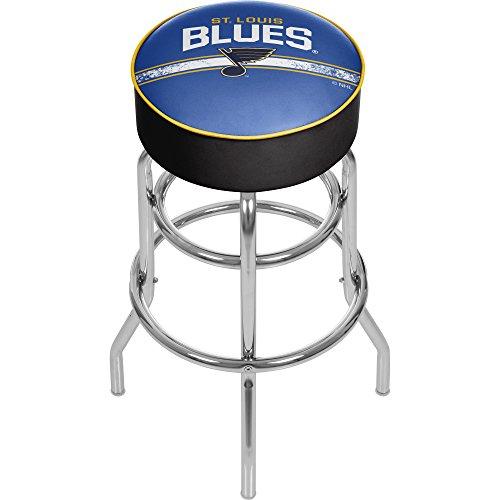 Blues Stool Louis Bar - Trademark Gameroom NHL St. Louis Blues Chrome Bar Stool with Swivel