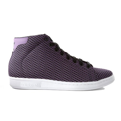 ADIDAS oRIGINALS-sTAN sMITH mID sNEAKER rEFLECTIVE 80s rETRO noir/violet
