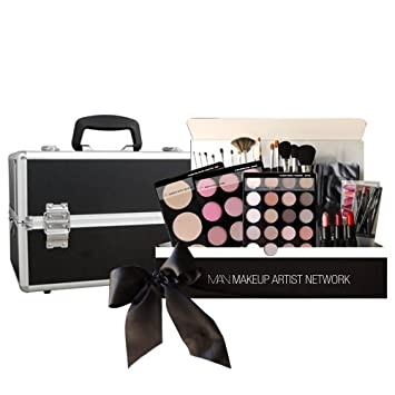 Amazon.com : Makeup Artist Network Pro Hollywood Makeup Artist Kit 101 with Cosmetic Train Case for Light and Fair Skin Tones : Makeup Sets : Beauty